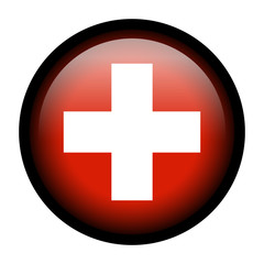 Flag button - Switzerland