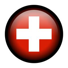 Flag button - Switzerland