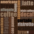 Coffee retro background. VECTOR illustration.