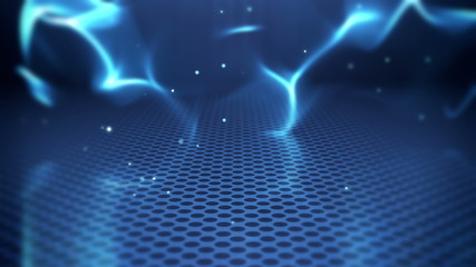 blue futuristic wave abstract loopable background