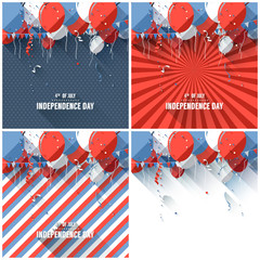 Flat style Independence day backgrounds