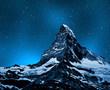 Matterhorn in night sky - Swiss Alps