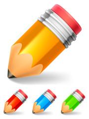 Set of color little pencils.