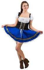 Oktoberfest girl spreading her skirt
