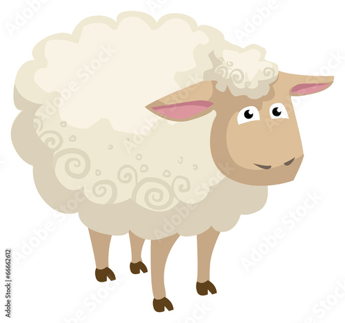 Cute cartoon sheep - 66662612