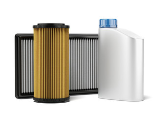 Car filters and motor oil