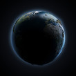 earth in space. Earth map provided by NASA