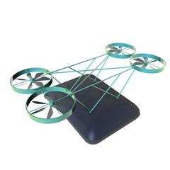 luchtpost met vliegende robot
