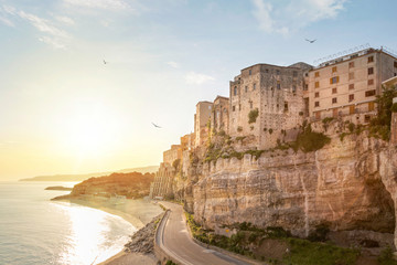 Tropea old town at sunrise, Calabria, Italy