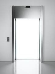 elevator with light inside