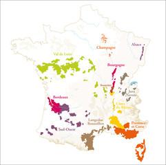 Carte du vignoble français