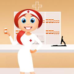 girl in the Pharmacy