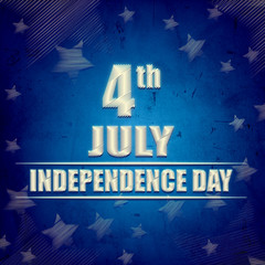 4th of July - American Independence Day - blue retro banner