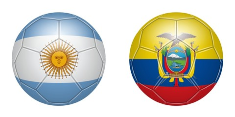 Football. Argentina - Ecuador