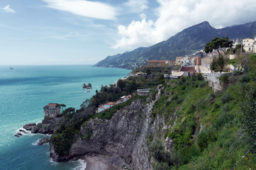Salerno - Panorama con Costiera Amalfitana