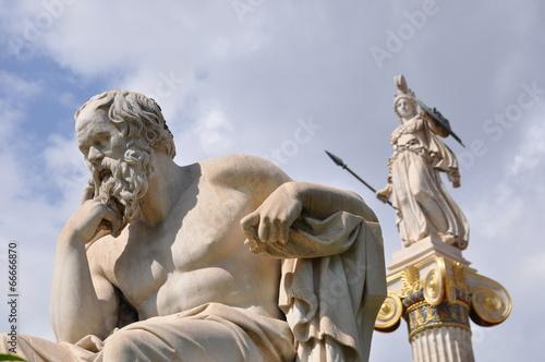 Leinwanddruck Bild Socrates et Athena