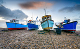 Naklejka Fishing Boats at Beer in Devon