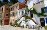 Fototapety greek alley street