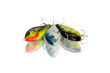 Three spinning lures