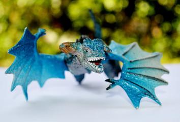 blue dragon flying   (toys)
