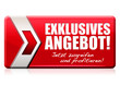 Exklusives Angebot! Button, Icon