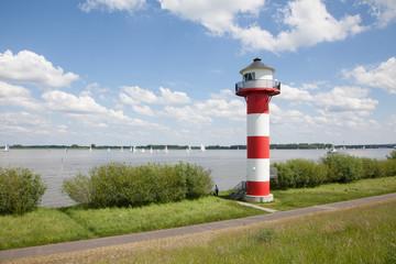 Hamburg, Elbe, Leuchtturm, Altes Land