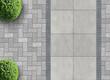 Leinwanddruck Bild - Steinpflaster von oben