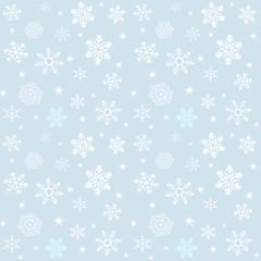 Seamless snowflakes pattern