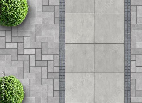 Aluminium Tuin Steinpflaster von oben