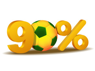 ninety percent discount icon