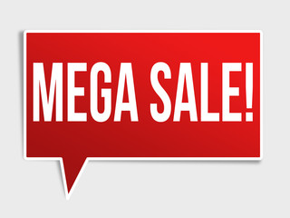 Mega sale red speech bubble