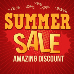 Summer sale design poster