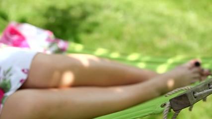 Resting in garden