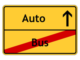 Auto statt Bus