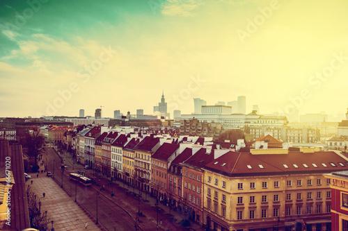 Fototapeta Winter in Warsaw