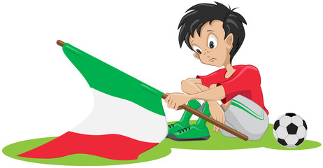 Sad Italian soccer fan