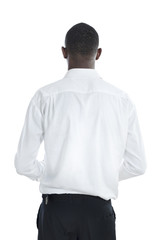 African business man rear view