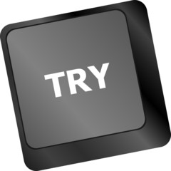 try button on keyboard key