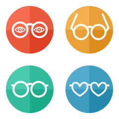 glasses set - vector illustration