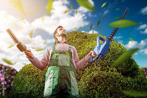 Leinwanddruck Bild Gardening Master