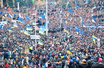 KIEV (KYIV), UKRAINE: Hundreds of thousands protest in Kiev
