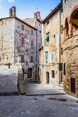 Campiglia Marittima is an old village in Tuscany, Italy