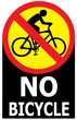No Allow Bicycle Sign Label - 66674650