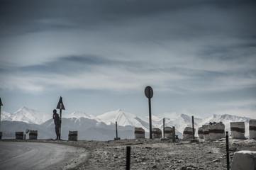 View on Spituk buddhist monastery Leh, Ladakh.
