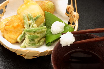 大根おろし 天ぷらの食べ方