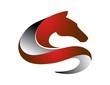 horse logo,silhouette shape,pet symbol,business icon