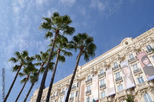 Leinwanddruck Bild Hôtel à Cannes, French Riviera