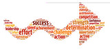 Fototapety Words illustration of concept of success over white background