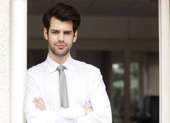 Professional young businessman portrait