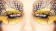 Creative Golden Eye Makeup